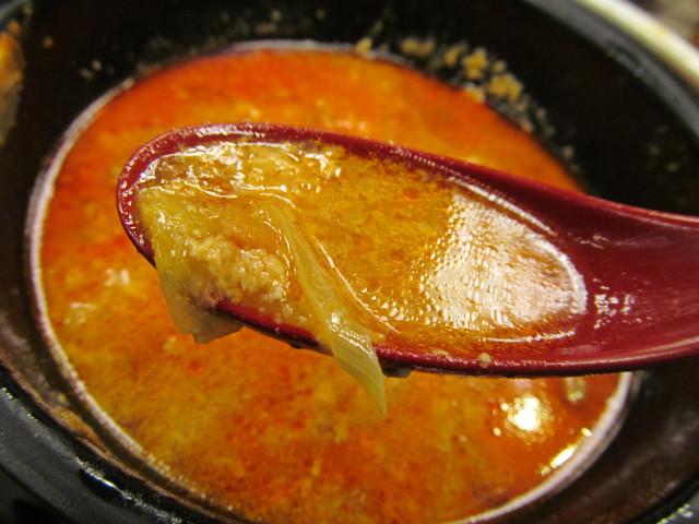 なか卯鶏担々鍋膳の残ったスープも賞味する