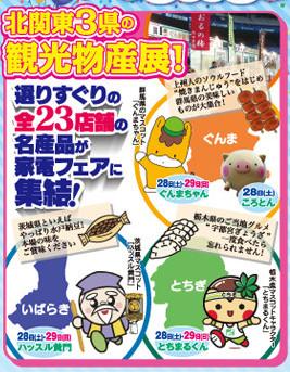 家電フェア2015大処分蚤の市北関東3県の観光物産展