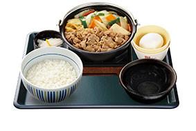 なか卯牛すき焼き鍋膳イメージ画像