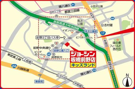 ジョーシン板橋前野店広域図