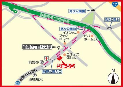 ジョーシン板橋前野店周辺地図