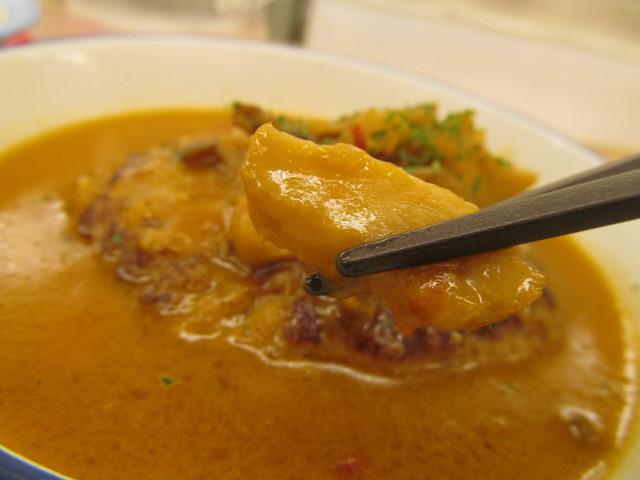 松屋シャンピニオンソースハンバーグ定食のエリンギ