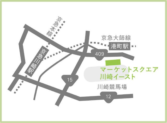 マーケットスクエア川崎イースト地図