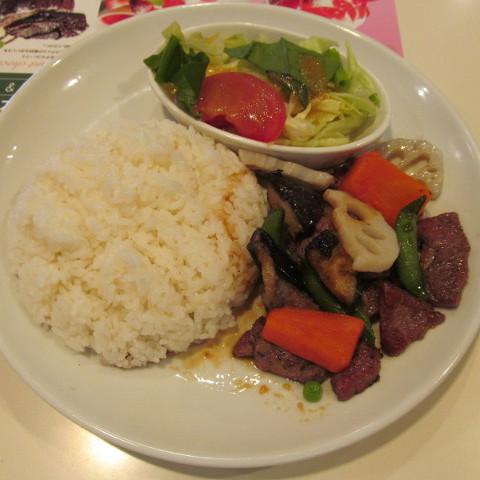 ガストビーフと焼き野菜のライスプレートライス大盛賞味サムネイル