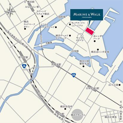 MARINEandWALKYOKOHAMA地図