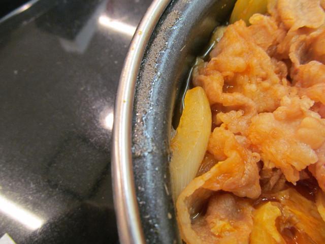 吉野家トマト牛鍋膳の玉ねぎ