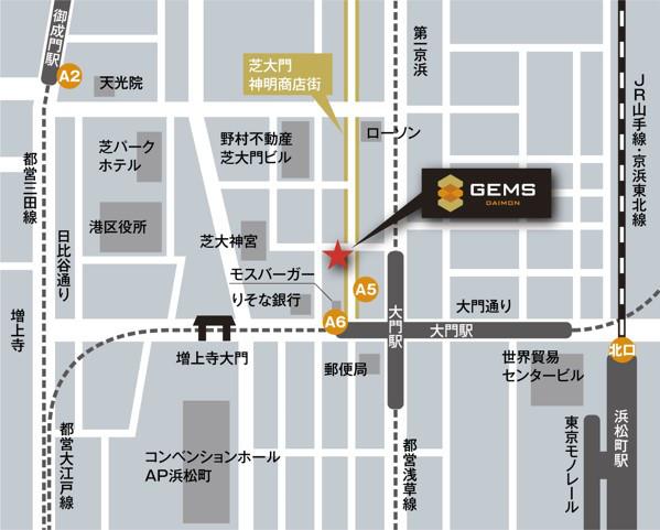 GEMS大門地図