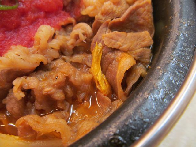 吉野家トマト牛鍋膳の白菜