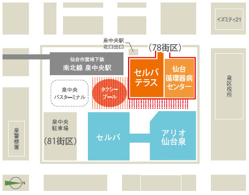 仙台泉中央駅周辺配置地図修正後
