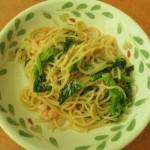 サイゼリヤ菜花とエビのタラコクリームスパゲッティサムネイル
