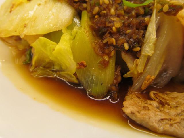 松屋豚肉とたっぷり冬野菜炒めの長ねぎ