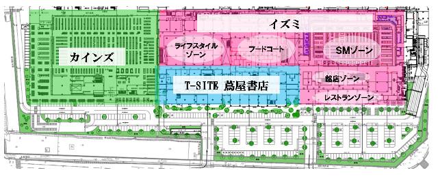 広島西部SC一階ゾーニング計画