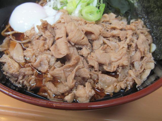富士そば渋谷店の肉富士そば大盛の肉