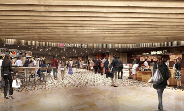 新なにわ大食堂完成イメージ図