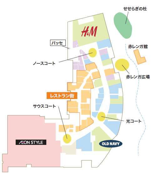 イオンモール堺鉄砲町1階フロアマップ