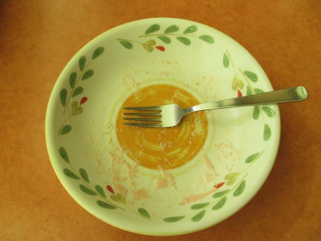 サイゼリヤ菜花とエビのタラコクリームスパゲッティを完食