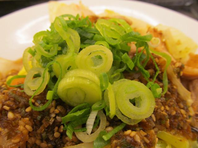 松屋豚肉とたっぷり冬野菜炒めの青ねぎ