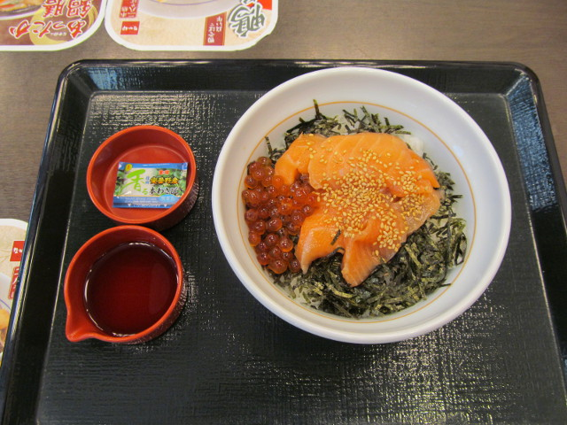 なか卯サーモン丼