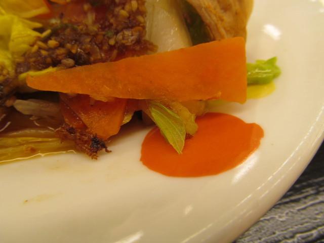 松屋豚肉とたっぷり冬野菜炒めのにんじん