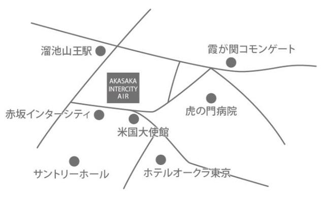 赤坂インターシティAIR地図