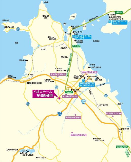 イオンモール今治新都市広域地図640