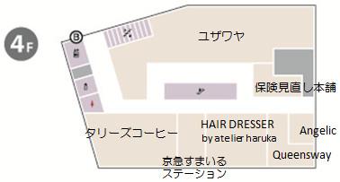 京急川崎駅前ビル4階フロアマップ