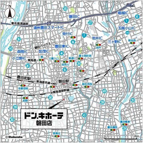 ドンキホーテ磐田店周辺地図