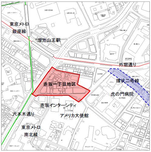 赤坂インターシティAIR位置図