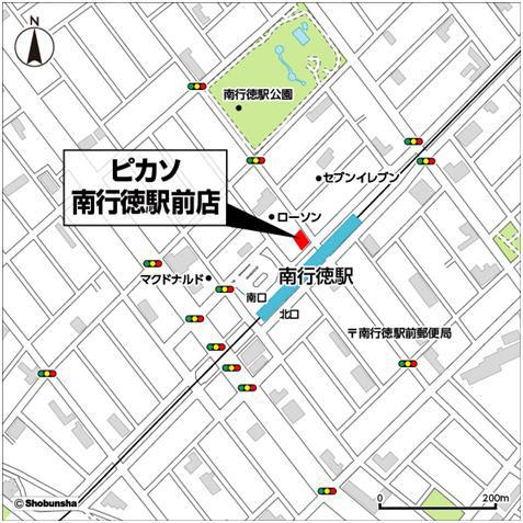ピカソ南行徳駅前店周辺地図
