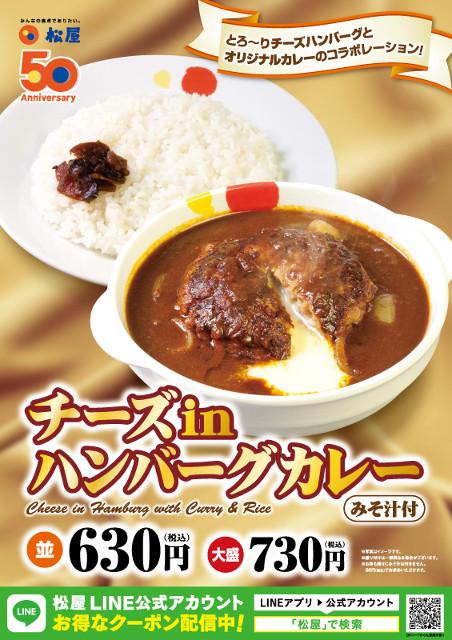 松屋チーズinハンバーグカレーポスター画像