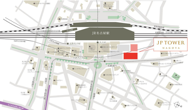 JPワター名古屋周辺地図