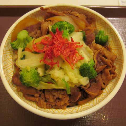 すき家春のえび塩キャベツ牛丼大盛賞味サムネイル