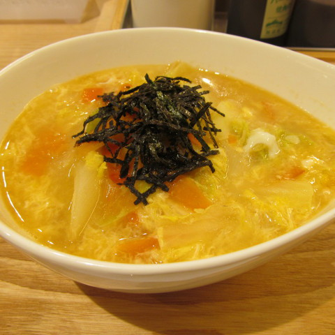 松屋冬野菜と玉子の生姜塩スープごはん賞味サムネイル