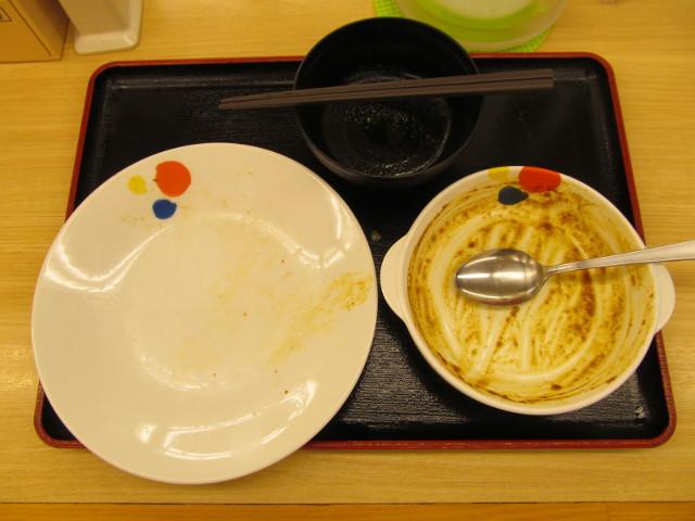 松屋チーズinハンバーグカレーを完食完飲