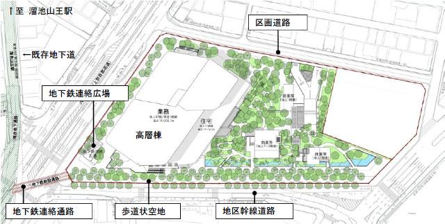 赤坂インターシティAIR配置計画図