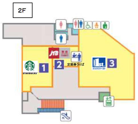 エトモ大井町2階フロアマップ