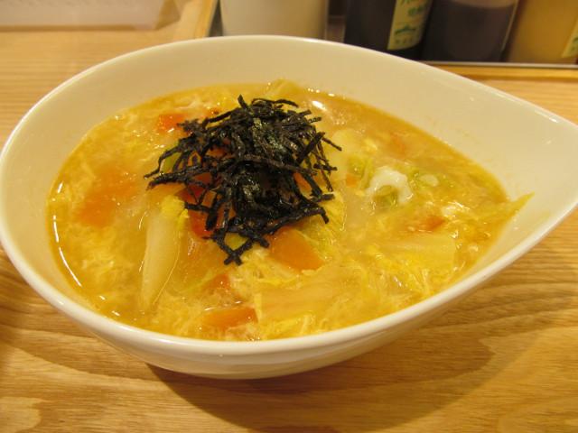 松屋冬野菜と玉子の生姜塩スープごはん