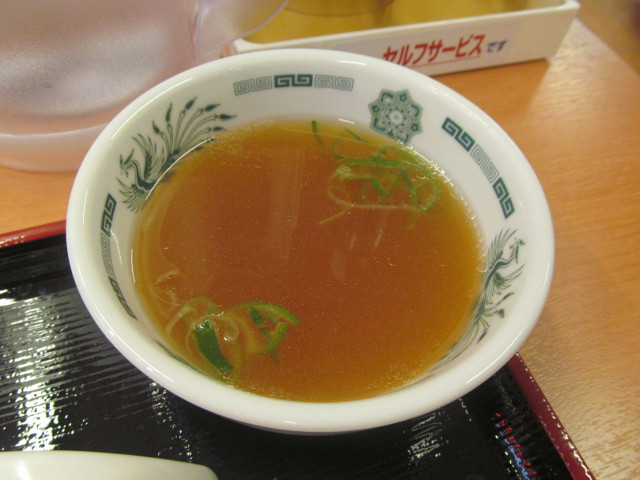 日高屋豪徳寺駅前店のスープ