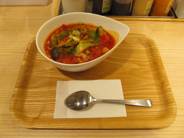 松屋きのこと彩り野菜のトマトスープごはん一式