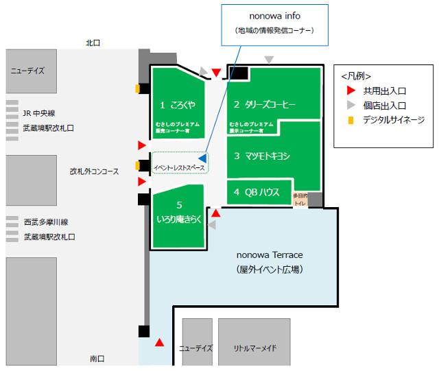 nonowa武蔵境EASTフロアマップ