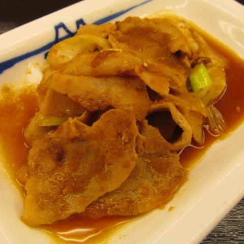 松屋豚バラ肉と長ネギの生姜焼定食大盛賞味サムネイル