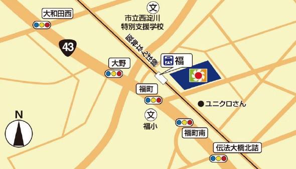 イズミヤスーパーセンター福町店広域地図