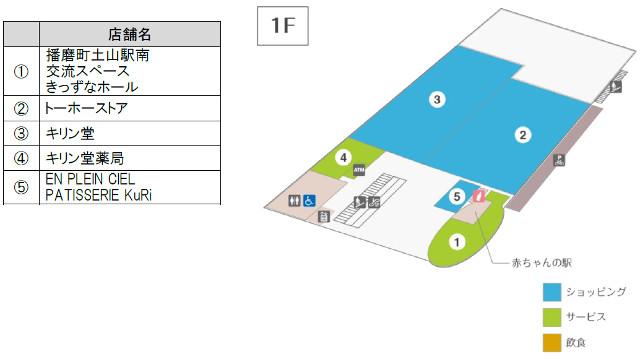 BiVi土山1階フロアマップ
