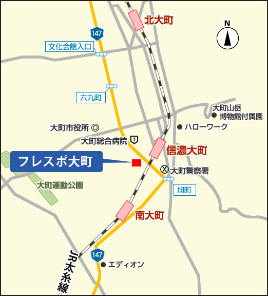 フレスポ大町地図