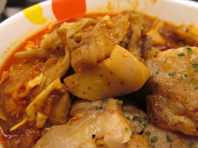 松屋ケイジャンチキン定食のエリンギ