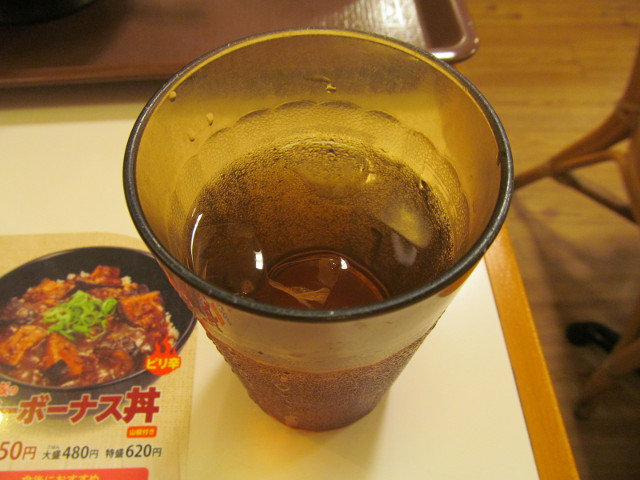 すき家の冷たいお茶20160531