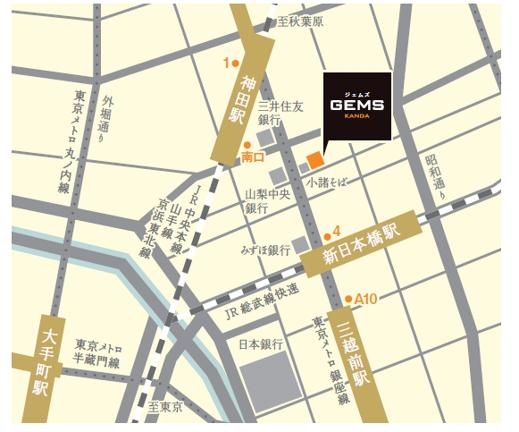 GEMS神田地図
