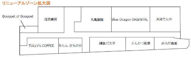 シャポー本八幡リニューアルゾーン拡大図20160627