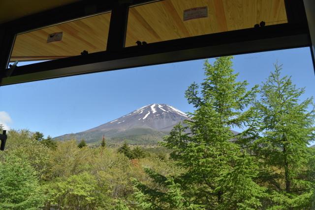 森の駅富士山から見える富士山