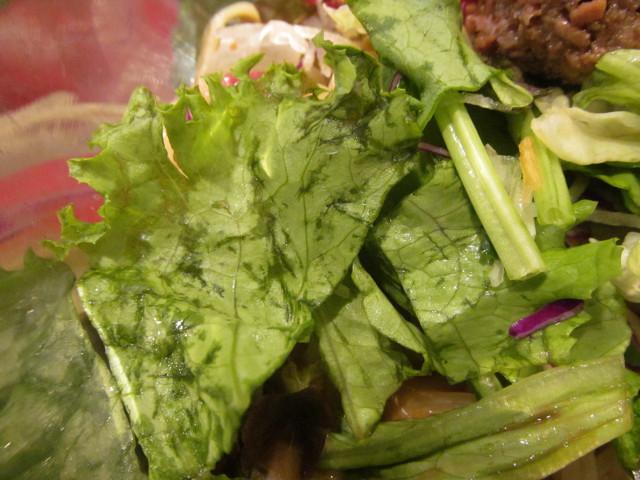 ガスト冷やしサラダタンタン麺のグリーンリーフ